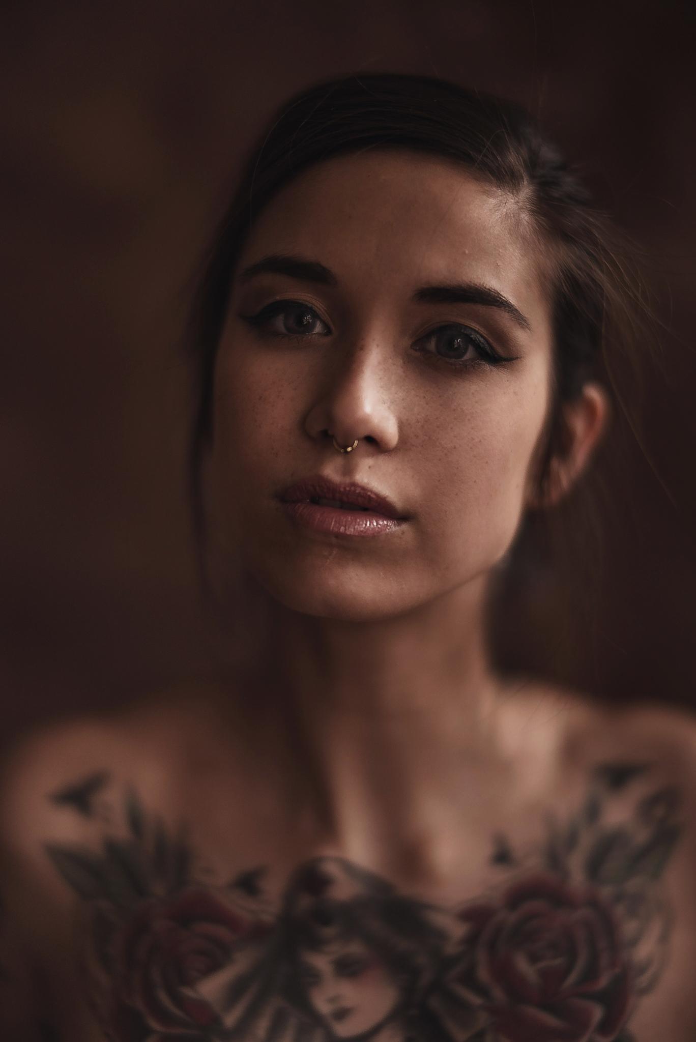Sinnliche Aufnahme einer schönen Frau